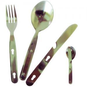 Фото Столовые приборы Набор ложка+вилка+нож TRC-003