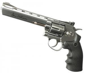 Фото Пневматические пистолеты Револьвер пневматический (Dan Wesson 6' Silver).Корпус - металл