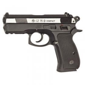 Фото Пневматические пистолеты Пневматический пистолет CZ 75D Compact вставка никель