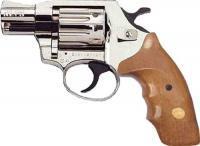 Фото Пневматические пистолеты под патрон флобера Револьвер Флобера Alfa 420 2 никель дерево