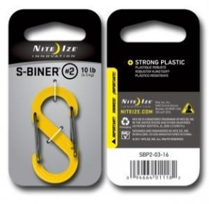 Фото Tуристические аксессуары Карабин пластиковый Plastic S-Biner Size 2 желтый