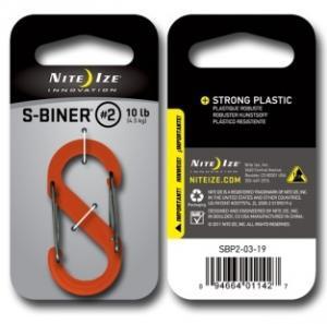 Фото Tуристические аксессуары Карабин пластиковый Plastic S-Biner Size 2 оранжевый