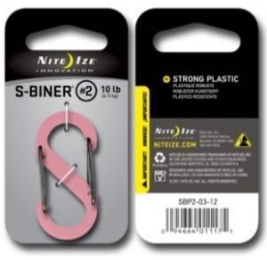 Фото Tуристические аксессуары Карабин пластиковый Plastic S-Biner Size 2 розовый