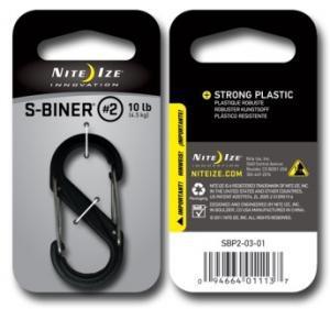 Фото Tуристические аксессуары Карабин пластиковый Plastic S-Biner Size 2 черный