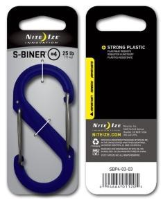Фото Tуристичні аксесуари Карабин пластиковый Plastic S-Biner Size 4 синий