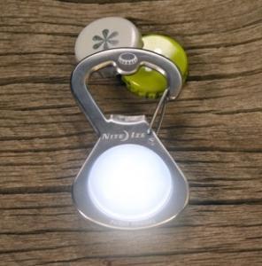 Фото Tуристические аксессуары Карабин-открывалка светодиодный S-Biner GetLit стальной