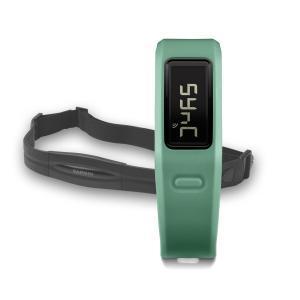 Фото Спортивные GPS навигаторы Часы для фитнеса Garmin vívofit Teal HRM Bundle