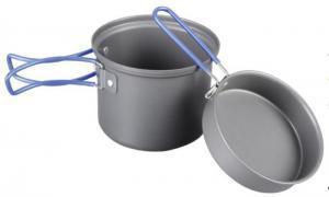 Фото Кастрюли, Котелки Кастрюля-кружка 1,0 л. анодированная с крышкой-сковородкой TRC-039