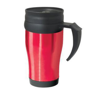 Фото Термокружки Термокружка Oggi Lustre 400 ml. Stainless Steel Travel Mug with Plastic Red