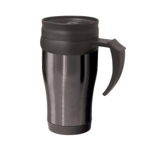 Фото Термокружки Термокружка Oggi Lustre 400 ml. Stainless Steel Travel Mug with Plastic Black