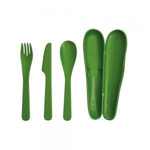 Фото Столовые приборы Туристический набор столовых приборов (зеленый)