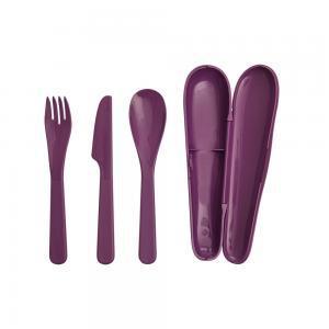 Фото Столові прибори Туристический набор столовых приборов (фиолетовый)
