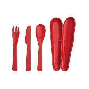 Фото Столовые приборы Туристический набор столовых приборов (красный)