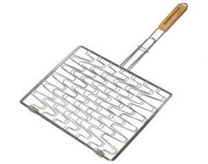 Фото Решетки для гриля Решетка двойная с ручкой 30x40 см