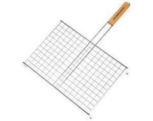 Фото Решетки для гриля Решетка одинарная с ручкой на ножках 42x30 см