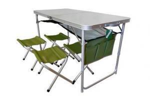 Фото Мебель для пикника Стол + 4 стульчикаTA21407+FS21124
